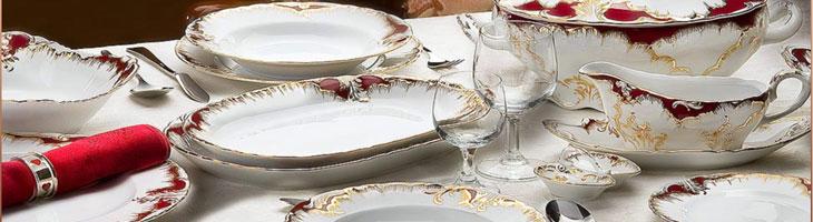 Kpl.obiadowe porcelanowe